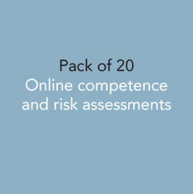 Pack of 20 - Online competence and risk assessments